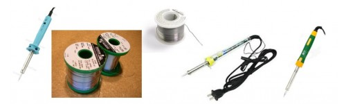 SOLDERING IRON AND SOLDERING LEAD